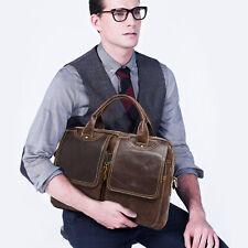 Men's Genuine Leather Business Shoulder Handbag Briefcase Laptop Messenger Bags