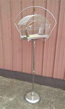 Antique Chrome Bird Cage and Floor Stand 1930s Era