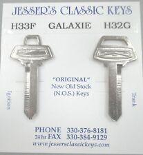 Ford GALAXIE Keys OEM Nickel NOS In Dash Ignition 1966 1967 1968 1969 1970