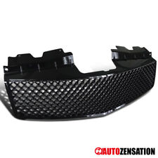 For 2003-2007 Cadillac CTS Glossy Black Mesh Front Bumper Hood Grille Guard