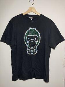 A Bathing Ape BABY MILO Black Diamonte T-Shirt tShirt Size L #21272