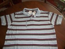 Old Navy Vintage Mens Polo 2XL  Blue/Gray/Red --New with Tags