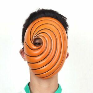 Naruto Akatsuki Tobi Uchiha Obito Costume Resin Mask Helmet Halloween Cosplay