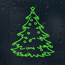 Lime Green Merry Christmas Tree Car Decal Vinyl Sticker