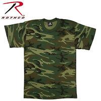 9777 Rothco Heavyweight T-Shirt - Woodland Camo