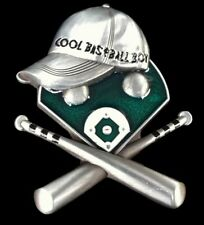 Game Sports Belt Buckle Boucle de Ceinture Cool Baseball Boy Hat Cap Bats Field