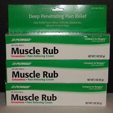 Perrigo Muscle Rub Cream (Compare to Bengay) 3oz Large Tube - 3 Tubes