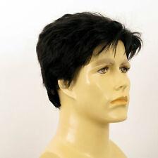 Perruque homme 100% cheveux naturel noir ref SEBASTIEN 1b