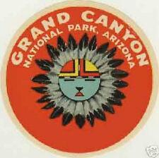 Grand Canyon  AZ  Round Vintage Style 1950's Travel Decal Sticker  Arizona