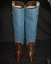 BEAUTIFUL URBAN SOUL DENIM & LEATHER BOOTS size 9