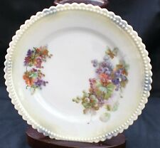 "Vintg SILESIA Hand Painted GRAPES Set of 5 6 1/4"" Desert  Plates 9 1/4"" Platter"