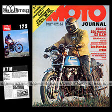 MOTO JOURNAL N°155 KTM 125 MORINI 350 SUZUKI RE5 RX5 WANKEL HONDA CR 250 M 1974