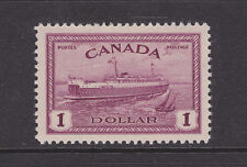 Canada Sc 273 MLH. 1946 $1 Train Ferry, top value to set VF
