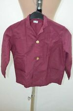 BLOUSE BORDEAUX NYLON OVERHALL TABLIER APRON KITTEL BLUSE 8 ANS