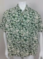 Tommy Bahama Mens Shirt Size Large Short Sleeve Button Front Floral Hawaiian
