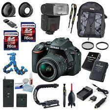 Nikon D5500 Camera w/18-55mm VR Lens  Filter Kit  0.43 Wide Angle Lens  2.2x