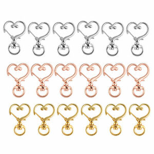 Heart Shape Lobster Claw Clasp Snap Hook Clip Jewelry Making Keychain Hooks 10pc