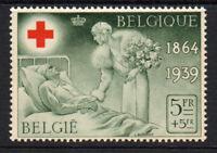 Belgium 5 Franc + 5 Franc Red Cross Stamp c1935 Mounted Mint Hinged (3109)