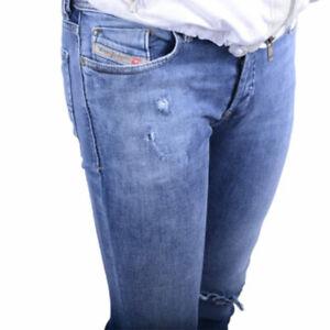 DIESEL TROXER R8IE4 STRECH Men's Denim Jeans SLIM SKINNY Blue RRP £160