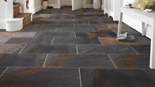 CUT TILE SAMPLE: Indian Rust Slate Effect Porcelain Anti Slip Wall Floor Tiles