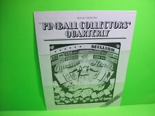 Pinball Collectors Quarterly Original 1981 Newsletter FLYER Teaser Promo Item