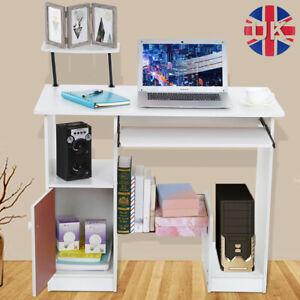 Home Computer Desk Office Laptop PC Study Table Shelves Small Corner Workstation