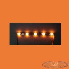 5 x Miniatur Lichtleiste 5 SMD LEDs Typ 0805 orange Modellbahn Kirmes