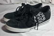 WOMENS DC JOURNAL SE 301566 SUEDE LEATHER BLACK SNEAKERS 9 EU 40.5 SKATE HEARTS