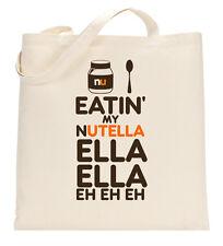 Eatin mio NUTELLA ella ella OMBRELLO Rihanna TOTE shopping bag grande leggero