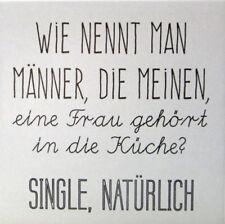 Deko Wandbild Spruch * WIE NENNT MAN MÄNNER * Bild Keramikfliese Geschenkidee