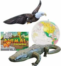 Inflatable Globe Eagle Gator Animal Coloring Book Decoration Learning