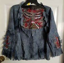 New W/O Tags Boy's Child Zombie Shirt Halloween Costume Size Large (10/12)