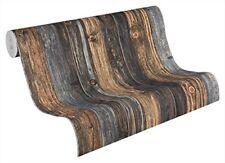 A.s. Création papel pintado Wood'n Stone beige Marrón gris 10 05 m X 0 53 M...