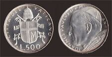 VATICANO 500 LIRE 1980 ARGENTO - GIOVANNI PAOLO II - FDC/UNC FIOR DI CONIO
