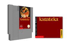 Karateka for Nintendo NES & Instruction Manual Booklet Lot Karate Broderbund