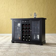 CrosleyCrosley Furniture Alexandria Sliding Top Bar Cabinet - BlackNew