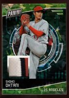 SHOHEI OHTANI 2/5 ROOKIE JERSEY PATCH CRACKED ICE REFRACTOR RC 2018 PANINI CYBER