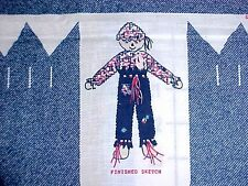 "Vintage SCARECROW DOLL Panel diy 22"" Raggedy Watermelon Fabric Traditions"
