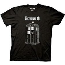 Doctor Who Linear Tardis T-Shirt, LARGE- Black