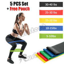 Resistance Bands Loop Set Strength Fitness Gym Leg Exercise Yoga Workout Pull Up