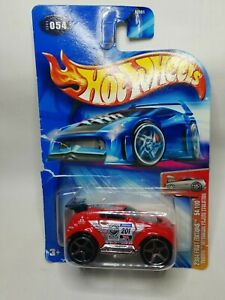 2004 Hot Wheels First Editions 54/100 'Tooned Mitstubishi Pajero Evolution Red