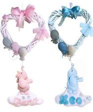 Fiocco nascita personalizzato bimbo bimba rosa azzurro pannolenci fiocchi nome