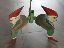 Vintage Metal Christmas Tree stand - 3 Dwarfs 1930-1940