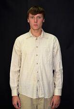 Vintage 90's Men's BURBERRY Plaid Check Button Down Casual Dress Shirt Size M