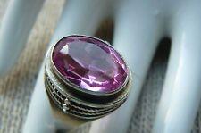 Amazing Vintage Silver Ring Big Ruby Stone ( Corundum )875 Soviet Star Size 8,5