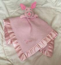 Piglet Lovey Sincerely Winnie Pooh Disney Pink Pig Square Fleece Silky Edge Trim