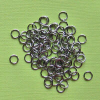 100 Stainless Steel Jump Rings 7mm Surgical Steel SS007