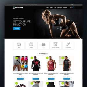 SPORT GEAR Dropshipping Store - Turnkey Website Business Fully Ready to Market