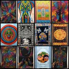 Indian Tapestry Cotton Twin Bedding Hippie Cotton Wall Hanging Bedspread Ethnic