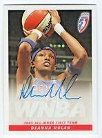 2006 WNBA Authentic Original Autograph Deanna Tweety Nolan Detroit Shock Action